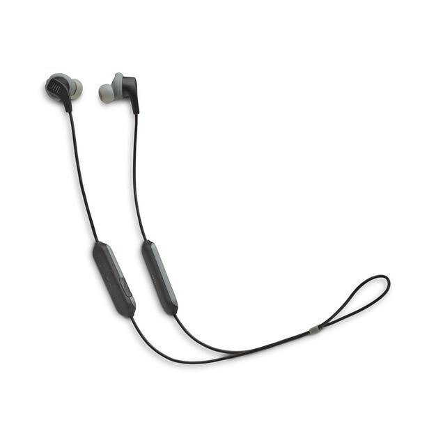 JBL Endurance RUNBT - Black - Sweatproof Wireless In-Ear Sport Headphones - Hero