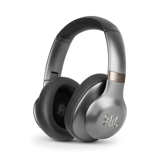 JBL EVEREST™ ELITE 750NC - Gun Metal - Wireless Over-Ear Adaptive Noise Cancelling headphones - Hero
