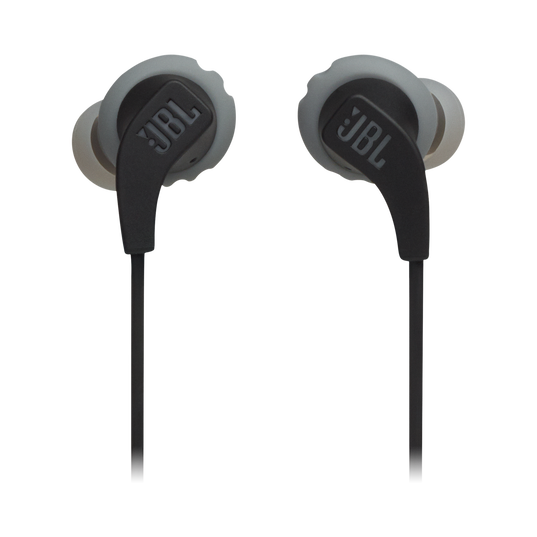 JBL Endurance RUNBT - Black - Sweatproof Wireless In-Ear Sport Headphones - Front