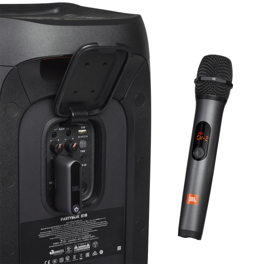 JBL Wireless Microphone Set - Black - Wireless two microphone system - Detailshot 1