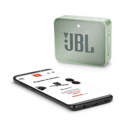 JBL GO 2 - Seafoam Mint - Portable Bluetooth speaker - Detailshot 3
