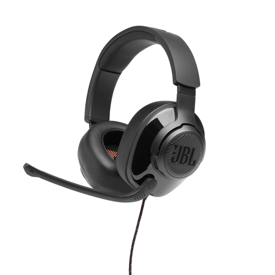 JBL Quantum 300 - Black - Hybrid wired over-ear gaming headset with flip-up mic - Detailshot 5