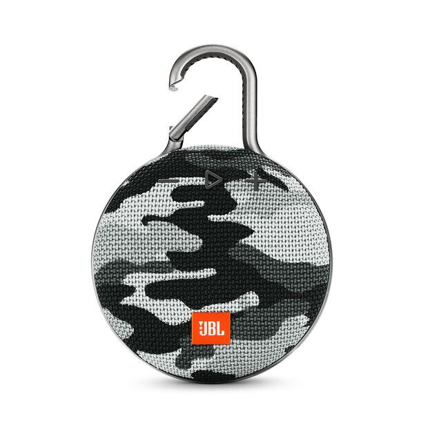 JBL CLIP 3 - Black/White Camouflage - Portable Bluetooth® speaker - Hero
