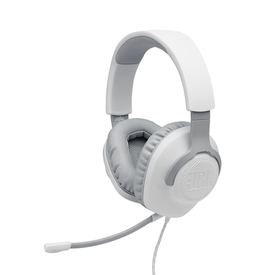 JBL Quantum 100 - White - Wired over-ear gaming headset with a detachable mic - Detailshot 1