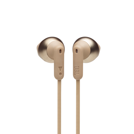 JBL TUNE 215BT - Champagne Gold - Wireless Earbud headphones - Front