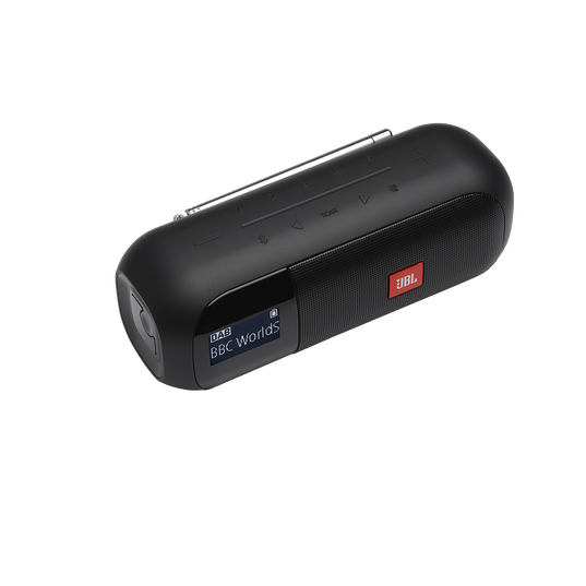 JBL Tuner 2 - Black - Portable DAB/DAB+/FM radio with Bluetooth - Detailshot 2