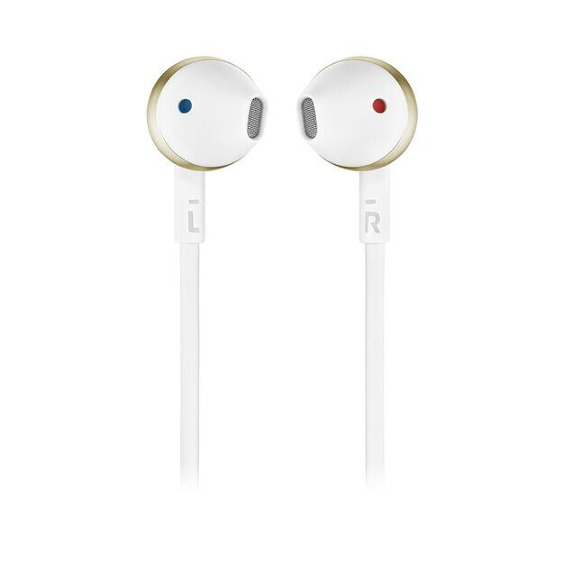JBL TUNE 205BT - Champagne Gold - Wireless Earbud headphones - Front