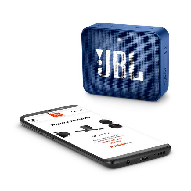 JBL GO 2 - Deep Sea Blue - Portable Bluetooth speaker - Detailshot 3