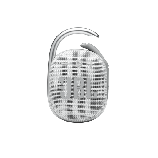 JBL CLIP 4 - White - Ultra-portable Waterproof Speaker - Front