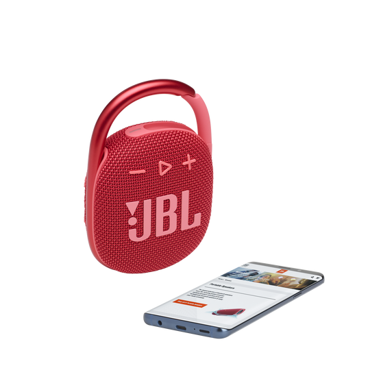 JBL CLIP 4 - Red - Ultra-portable Waterproof Speaker - Detailshot 1