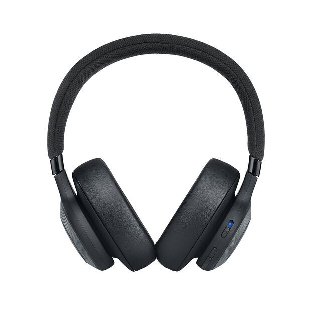 JBL E65BTNC - Black Matte - Wireless over-ear noise-cancelling headphones - Front