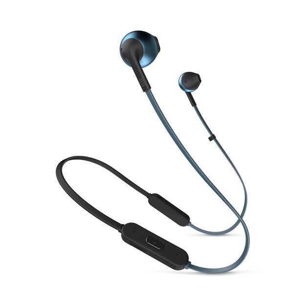 JBL TUNE 205BT - Blue - Wireless Earbud headphones - Hero
