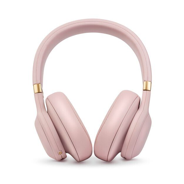 JBL E55BT Quincy Edition - Dusty Rose - Wireless over-ear headphones with Quincy's signature sound. - Front